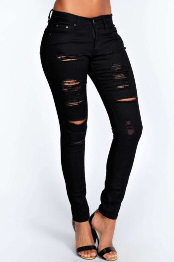 Heavy-Ripped-Skinny-Jeans-Black