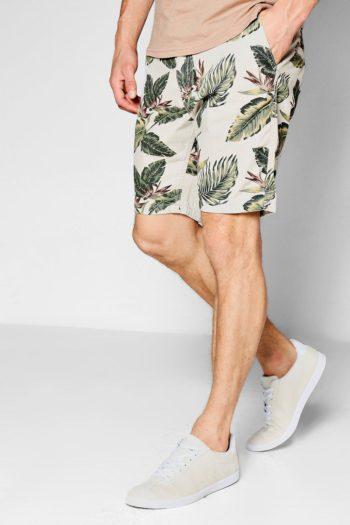 Tropical Print Chino Shorts   Norliden