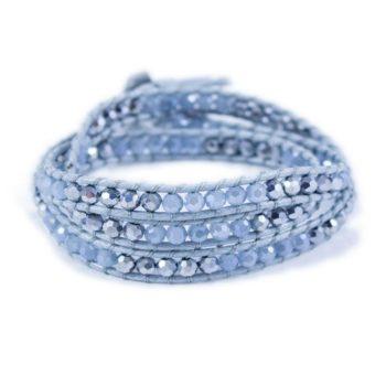 Blue Quartz Hematite Wrap Bracelet | Norliden