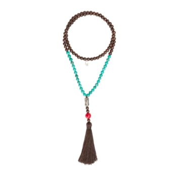 Brown and Turquoise Mala with Tassel | Norliden