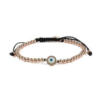 Gold-Tone Hematite Bracelet With Round Evil Eye   Norliden