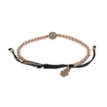 Gold-Tone Hematite Bracelet With Round Evil Eye2   Norliden