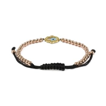 Hematite Bracelet With Rose Gold-Tone and Pearl Hamsa Charm2 | Norliden