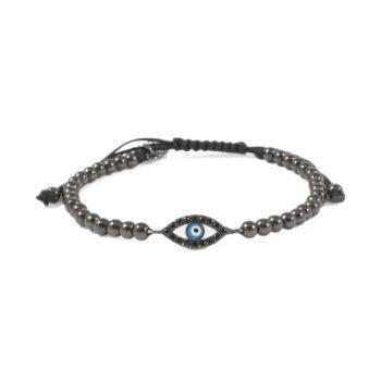 Hematite Bracelet with Evil Eye Charm   Norliden