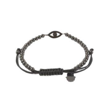Hematite Bracelet with Evil Eye Charm2   Norliden