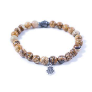 Jasper Bracelet with Silver Tone Buddha2 | Norliden
