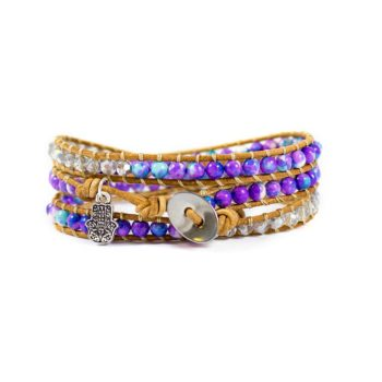 Multi Purple Wrap Bracelet | Norliden