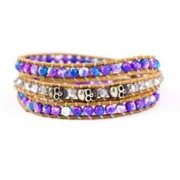 Multi Purple Wrap Bracelet2 | Norliden