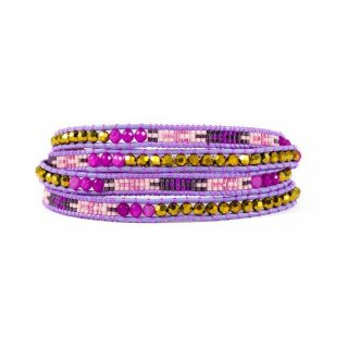 Multi Purple and Pink Wrap Bracelet | Norliden