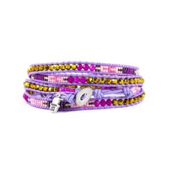 Multi Purple and Pink Wrap Bracelet2 | Norliden