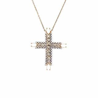 Sterling Silver Cross CZ Rose Tone | Norliden