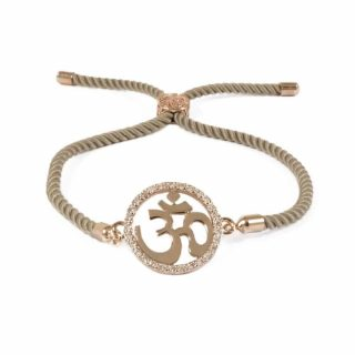 Tan Macrame Bracelet With Om Charm | Norliden