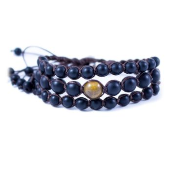 Three Line Bracelet with Onyx and Jasper | Norliden
