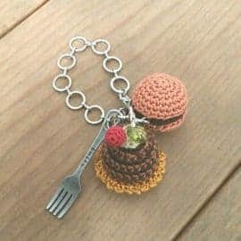 Hamburger and Fork Keychain | Norliden
