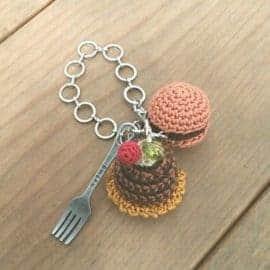 Hamburger and Fork Keychain | Norliden