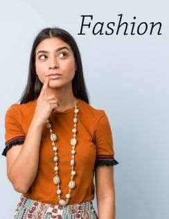 Girl Looking sideways fashion